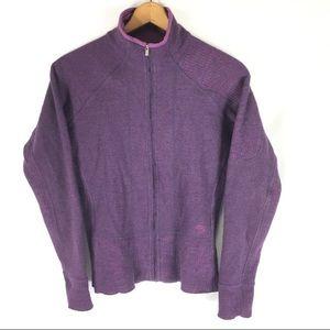 MOUNTAIN HARDWEAR | zip front sweater L mock neck
